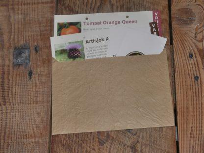 De Tuindoos enveloppe met zaadjes