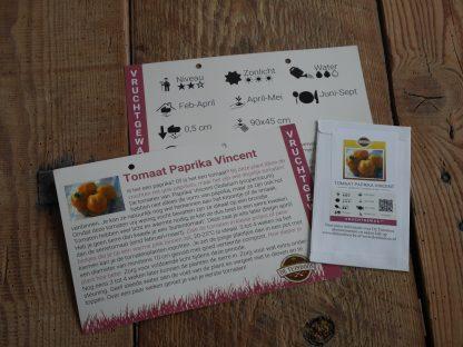 Tomaat Paprika Vincent met infofiche