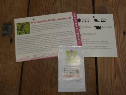 Mexicaanse minikomkommer met infofiche